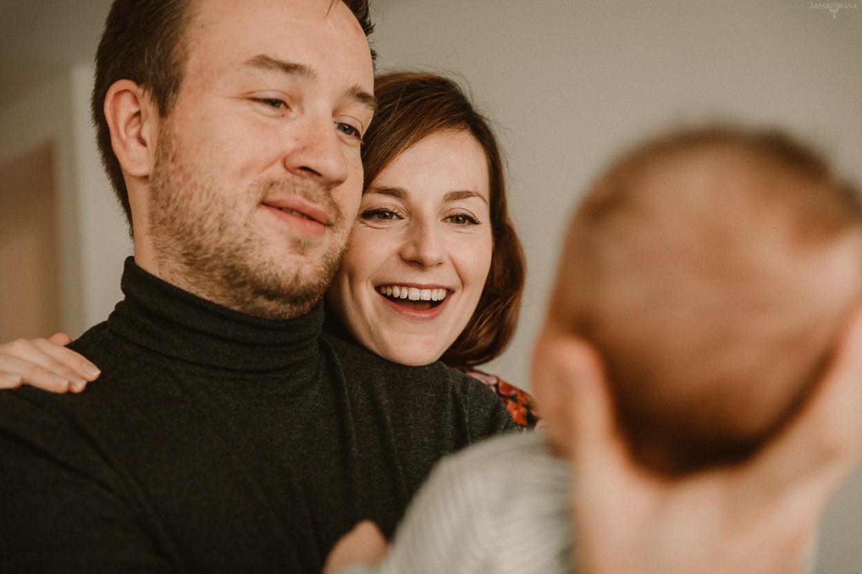 ZAPAROWANA - Fotograf rodzinny Warszawa - Domowa sesja rodzinna lifestyle