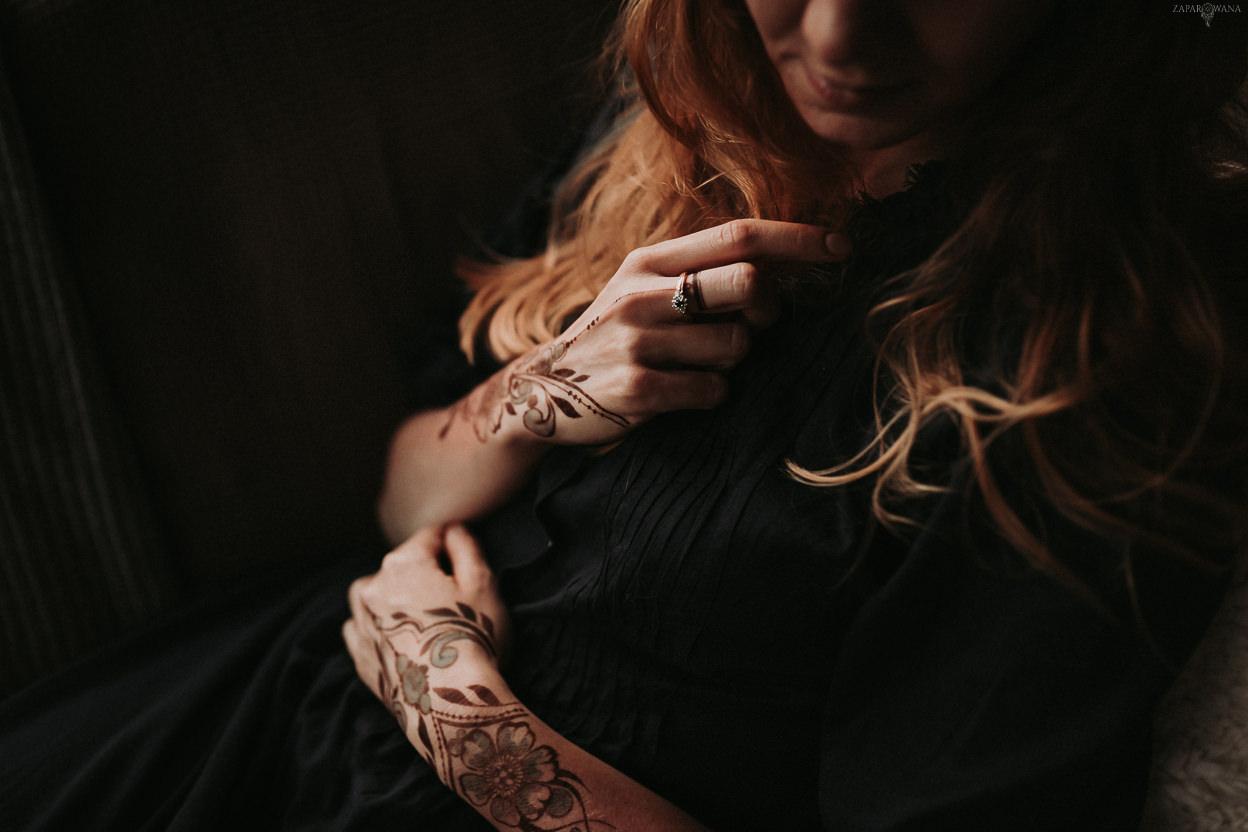 ZAPAROWANA - Sesja narzeczeńska - Tatuaż Henna - Warszawa