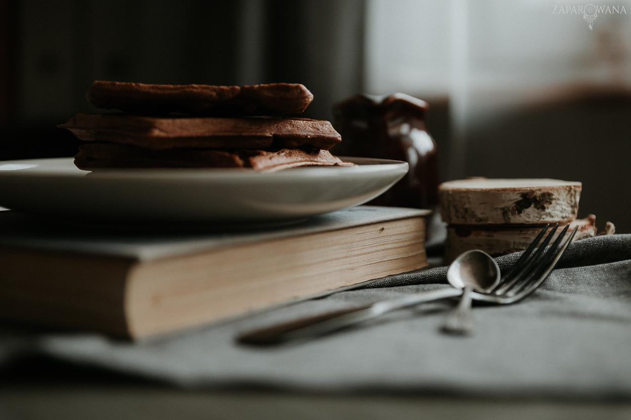 Bezglutenowe gofry dyniowe - Fotografia kulinarna - ZAPAROWANA