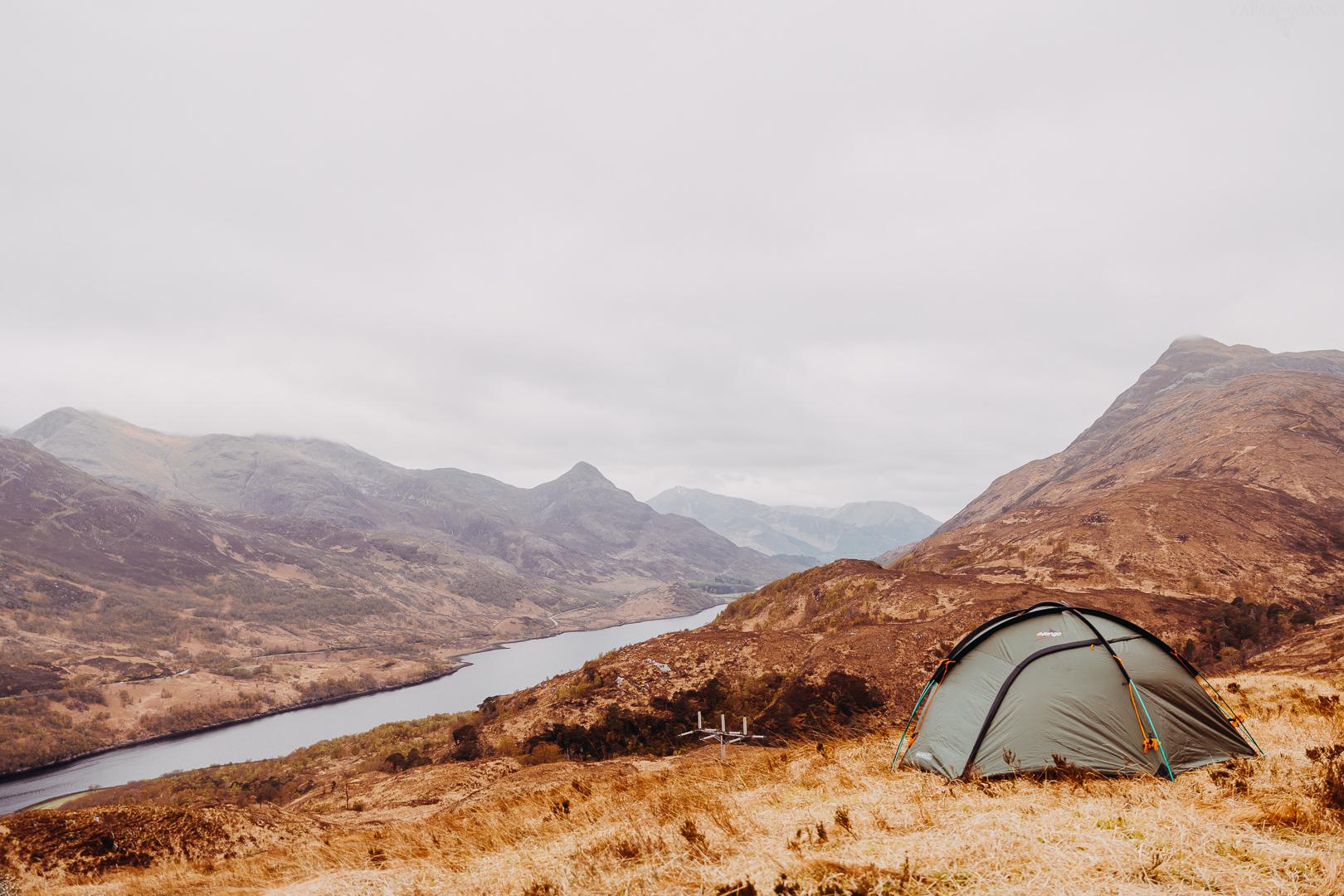 Szkocja - ZAPAROWANA - Kinlochleven - Glen Coe - Camping